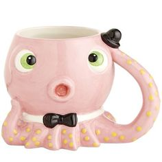 Octopus Mug from Pier 1 imports. Shop more products from Pier 1 imports on Wanelo. My Coffee, Coffee Cups, Stars Disney, Animal Mugs, Cup Mat, Pink Cups, Cool Mugs, Teapots And Cups, My Cup Of Tea