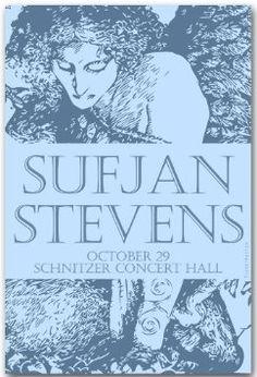 Sufjan Stevens Poster - Concert Flyer - 11 X 17 Age of Adz Tour: Home & Kitchen