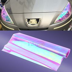 """Packaging: 1pc purple chameleon headlight film 12""""x48"""" Suitable for Any Headlights, Fog Lights, Side Marker lights or Even Top Part of the Windshield, etc. Rip away the film and spray water on it. 