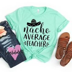 Super soft and comfy shirts perfect for a fun teacher! Fits large/roomy, this is a unisex fit shirt (you may consider sizing down) Preschool Teacher Shirts, Teaching Shirts, Kindergarten Shirts, Teacher T Shirts, Cute Shirt Designs, School Tshirt Designs, Cute Teacher Outfits, Cute Shirts, Workout Shirts