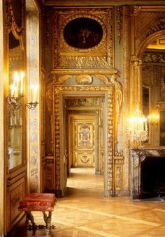 Hotel de Lauzun, Paris, France.  Over-the-top baroque (rococo?) architecture and design.  Don't try to make reservations...been closed to the public ( even for tours) since 2011.