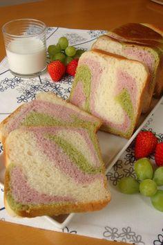 3 colour marble bread