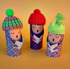 Descarga 3 plantillas para hacer muñecos con tubos de cartón... | Por cuatro cuartos | Bloglovin