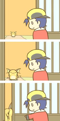 Raichu and trainer