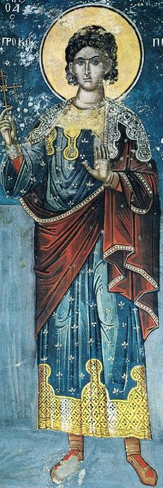Interesting designs... but uncomfortably-held cloak. Prokopios.