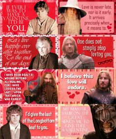 The Lord of the Rings Valentines
