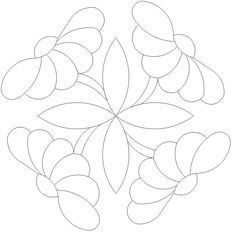 Button Daisy 1 x 4 535 Quilting Stencils, Quilting Templates, Machine Quilting Designs, Applique Templates, Applique Patterns, Applique Quilts, Embroidery Applique, Quilt Patterns, Embroidery Designs