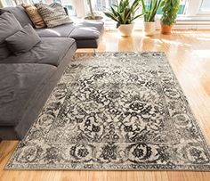 Yorkshire Grey Sarouk Vintage Modern Traditional Casual 5x7  53 x 73  Area Rug Thick Soft Plush Shed Free -- Be sure to check out this awesome product.-It is an affiliate link to Amazon.