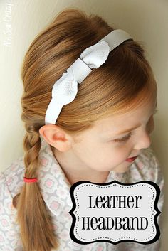 Free leather headband tutorial. Found at MeSewCrazy.com
