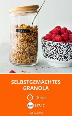 Selbstgemachtes Granola - smarter - Kalorien: 347.17 kcal - Zeit: 10 Min.   eatsmarter.de