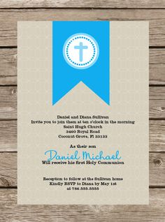 Printable First Communion or Baptism Invitation by TwoTinyLoves, $12.50