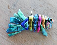 Extra Large One-of-a-Kind Pastel-Colored Bonefish - fused Dichroic Glass Pendant Dichroic Glass Jewelry, Fused Glass Art, Glass Wall Art, Glass Pendants, Colorful Artwork, Panel Art, Pink Earrings, Glass Design, Glass Ornaments