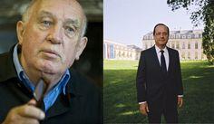 A gauche, Depardon - A droite, le portrait officiel de F. Hollande, signé…