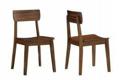 Amazon.com: Boraam 33312 Zebra Series Hagen Dining Chair, Walnut, Set of 2: Home & Kitchen $137