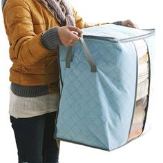 2017 Qualify Storage Bag Box Portable Organizer Non Woven Underbed Pouch Storage Box Bamboo Clothing Storaging Bag on sale