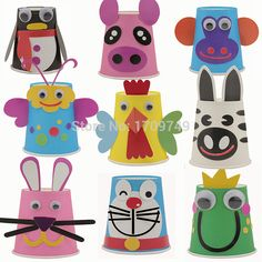 Animal paper cup material kit handmade charm diy child infant(China (Mainland))