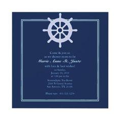 SAILBOAT nautical BABY SHOWER custom invitation from http://www.zazzle.com/sailboat+baby+shower+invitations