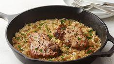 côtelettes de porc et de riz pour deux