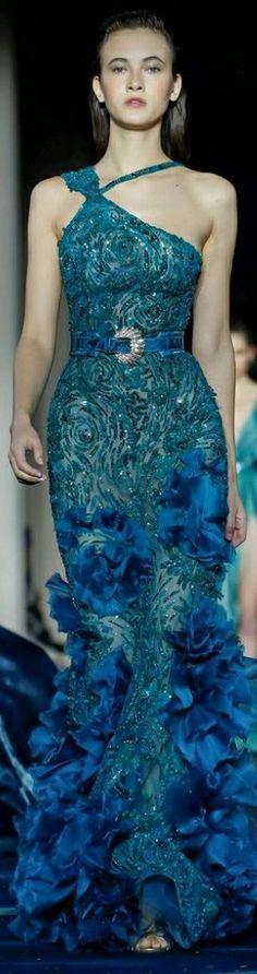 Shades Of Turquoise, Teal, Strapless Dress Formal, Formal Dresses, One Shoulder, Color, Fashion, Shades Of Blue, Dresses For Formal