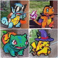 Halloween Squirtle, Charmander, Bulbasaur, Pikachu