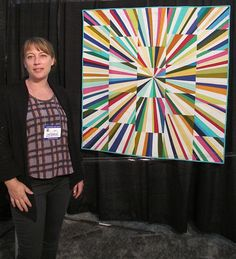 Tara Faughnan and her Fireworks Quilt. String theory.