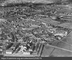 Fertiliser manufacturer The North Eastern Agricultural Co-operative Society Ltd known as ' Bannermill Works' on the Beach Boulevard in the foreground. The Tram Sheds at the beach end of Constitution Street can be seen. Aberdeen, Aerial View, Paris Skyline, City Photo, England, Community, History, Constitution, Street
