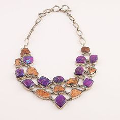 Copper and Purple Turquoise Sterling Silver Necklace – Keja Designs Jewelry