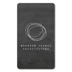 Designer Scribble Logo on Black Chalkboard Business Card Template - ready to personalize