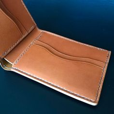 """28 Likes, 2 Comments - Handmade Leather Goods (@prleatherworks) on Instagram: """"One down, two more to go. @wickettandcraig Tan Bridle leather bifold wallet. Hand stitched with…"""""""