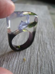 one of my first polyester resin ring from Atelier de Jade