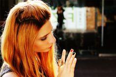 http://meriamber.tumblr.com/ tiger ring italy nails blonde meri amber italian
