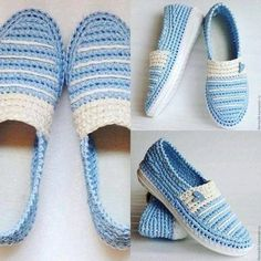 This would be awesome to make! Crochet Sandals, Crochet Boots, Crochet Clothes, Knit Crochet, Crochet Shoes Pattern, Shoe Pattern, Artisanats Denim, Creative Shoes, Shoe Image