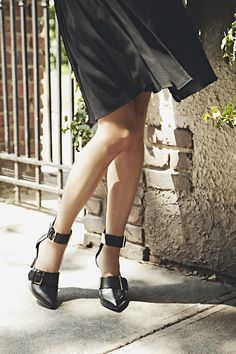 Join the ivy leagues this fall in Jason Wu's Leather Buckle Pumps. Photo: Romer Pedron