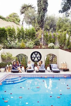 Dianna Agron's French-inspired outdoor space
