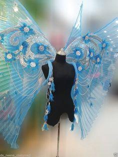 Butterfly Victoria Secret Blue Angel Wings Backpack by DaNeeNa
