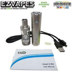 Get big #vapor clouds from the compact #Eleaf #iJust2 #vaporizer kit