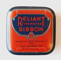 vintage packaging: typewritertins - thedieline.com - package design blog
