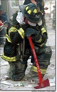 Kneeling Fire Fighter