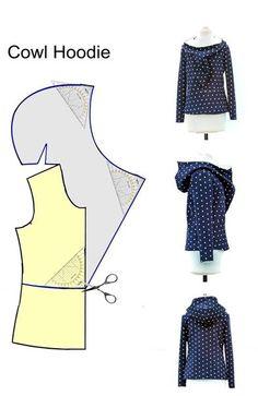 ТЕПЛАЯ ВЕЩИЧКА С КАПЮШОНОМ<br>===============================<br>Немного доработать и будет отличная курточка на осень Sewing Projects, Apron, Pinafore Dress, Sewing, Aprons, Costura