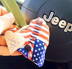 Found a quilted heart in Ocean City, MD at jeep week thanks for the smile. #IFAQH #ifoundaquiltedheart