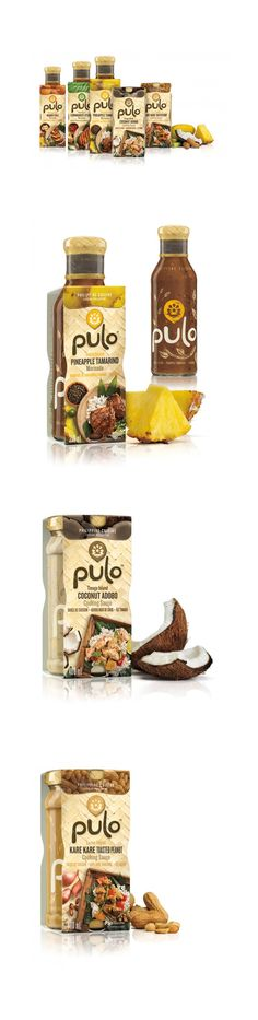 Pulo is an authentic collection of cooking sauces and marinades inspired by the diverse cuisines of the Philippines. The name Pulo is a Philippine word for 'island' – the country comprises over 7000 islands – and was chosen as the brand name to represent the rich cultural mosaic found there. The packaging was designed to invite consumers to explore the country's culinary delights and learn more about its vibrant heritage. *** Designed by Dossier Creative