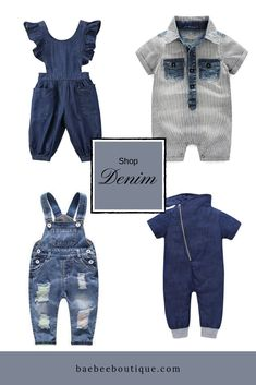 Stylish baby clothes, at affordable prices to keep your little ones cute from head-to-toe. Toddler Fashion, Toddler Outfits, Kids Fashion, Stylish Baby Clothes, Cute Outfits, One Piece, Boutique, Denim, Storks