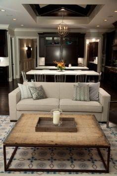 Living Room Ideas- table (Restoration Hardware) rug (Dash and Albert)