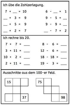 Beherrschen Kinder den Zahlenraum bis 20 und damit meine ich, dass sie die Zahlzerlegung bis 10 in- und auswendig können sowie bis 20 sicher ohne und mit Zehnerüberschreitung rechnen können, weiterlesen → Math Games, Math Activities, Teaching Kids, Kids Learning, German Language Learning, Kids English, Math Addition, Learn German, Math Classroom