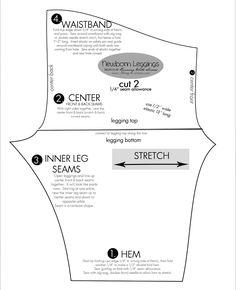 Newborn legging pattern