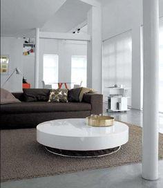 nett runder wei er couchtisch deutsche deko pinterest. Black Bedroom Furniture Sets. Home Design Ideas