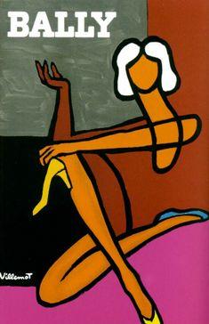 Affiche Bally Villemot: femme - L'affiche française