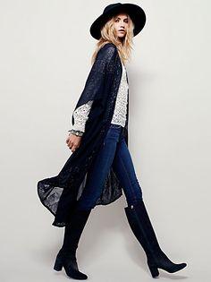 Cute Winter   Fall Jackets for Women at Free People (Roam Kimono) Boho Divat aae78b3256
