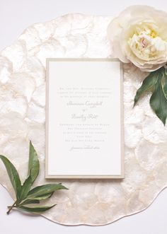 Shannon + Bradley's Letterpress Wedding Invitations | Custom Linen Enclosure | Blind Letterpress | Destination Wedding