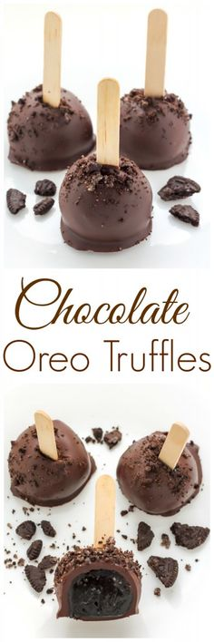 Oreo Truffles Chocolate Oreo Truffles - So easy and super decadent, these are a hit year-round!Chocolate Oreo Truffles - So easy and super decadent, these are a hit year-round! No Bake Desserts, Just Desserts, Delicious Desserts, Yummy Food, Baking Desserts, Oreo Truffles Recipe, Truffle Recipe, Chocolate Oreo, Chocolate Desserts